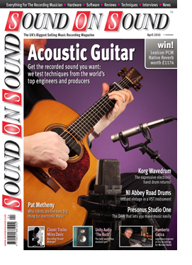 Recording Acoustic Guitar (Sound On Sound magazine cover feature)