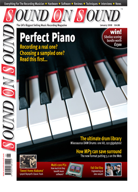 Perfect Piano (Sound On Sound magazine cover feature)